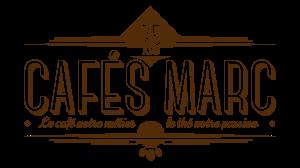 CAFES MARC logo A MARRON fond blanc PNG